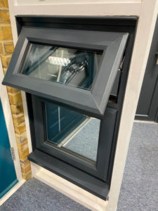 Anthracite smooth uPVC windows in Surrey